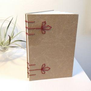 Red Clover Coptic Stitch Journal